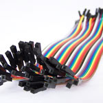 200mm Female to Female Jumpers - Ribbon of 40 wires