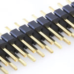 40 pin 2.54mm snappable dual row header - Gold Plated