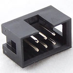 IDC Male connector (shrouded header), 6 pin