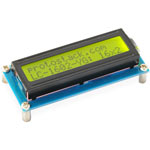 16 x 2 character LCD module with yellow/green backlight