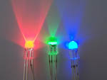 LED waterclear Red/Green/Blue (RGB) 5mm common cathode