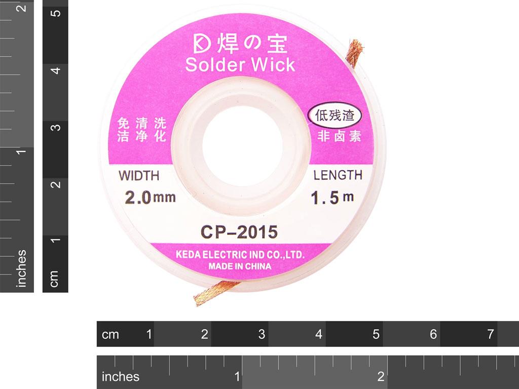 Solder Wick 2mm X 1 5m 2 50 Protostack Avr
