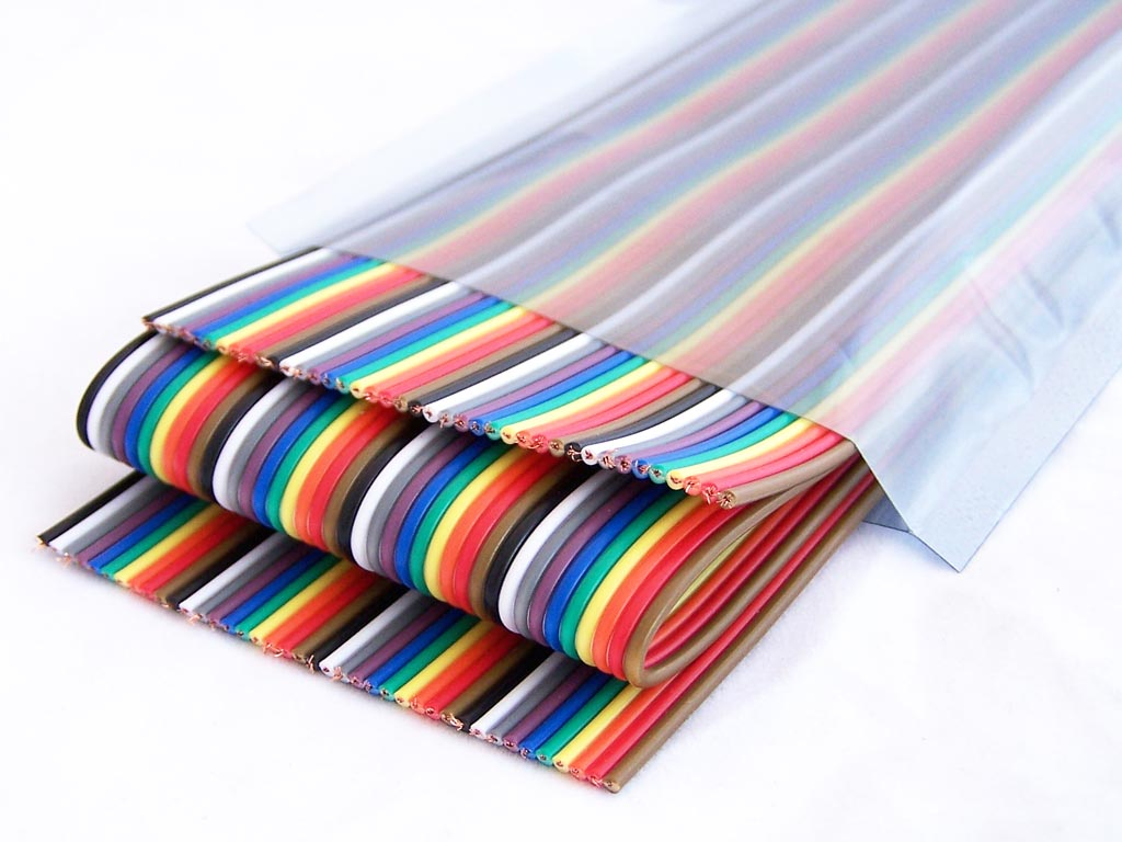 Rainbow Ribbon Cable 4 Conductor : Ribbon cable conductor mm pitch meter