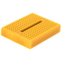 170 tiepoint mini breadboard - Yellow