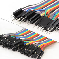 200mm Male to Female Jumpers - Ribbon of 40 wires