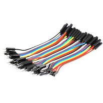 100mm Male to Male Jumpers - Ribbon of 40 wires