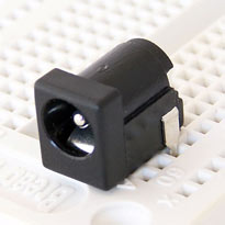 DC Jack 2.1 x 5.5mm - Breadboard and Perfboard Friendly