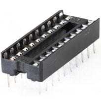 """IC Socket 20pin 7.62mm (0.3"""")"""