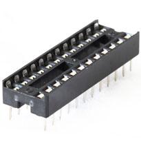 """IC Socket 24 pin 7.62mm (0.3"""")"""