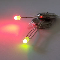 LED Red/Green 3mm common cathode - Diffused