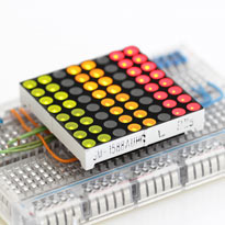 LED matrix 8x8 Red/Green 37.8 x 37.8mm