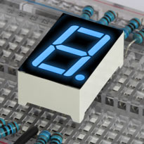 "LED 7 Segment Blue 0.56"" digit"